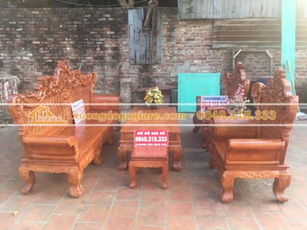 Bộ bàn ghế Hoàng Gia gỗ Gõ hàng VIP