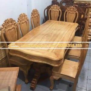 Bàn ăn gỗ Gõ Đỏ – 8 ghế