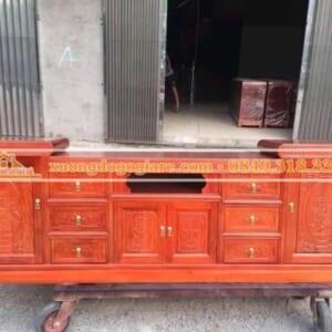 Kệ tivi gỗ xoan đào – 2m2 – 2m4