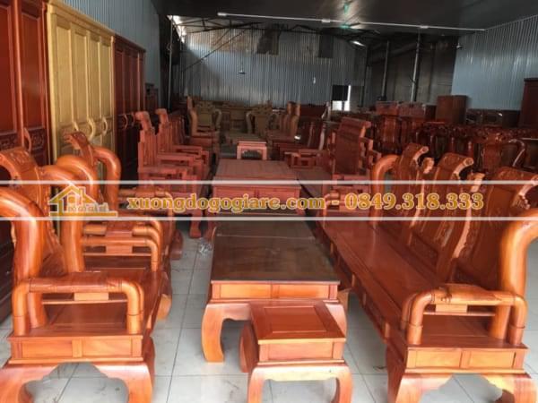 Bàn ghế Tần Thủy Hoàng Gỗ Gõ Đỏ