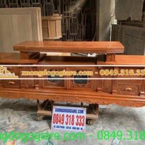 Kệ tivi gỗ hương đá Anh Khoa ( Mê Linh )