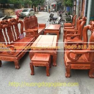 Bàn ghế minh quốc đào tay 12 gỗ hương đá hàng vip, anh Đức ở Nam Định