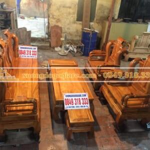 Bộ Tần Thủy Hoàng tay 12 gỗ gõ đỏ
