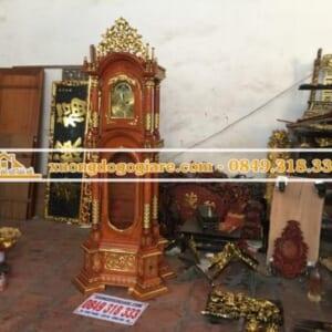 Đồng hồ cây tứ trụ dát vàng