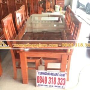 Bàn ghế ăn giá rẻ gỗ sồi nga