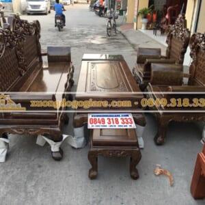 Bàn ghế hoàng gia gỗ mun