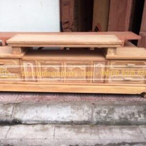 Kệ tivi gỗ gõ đỏ mẫu sofa