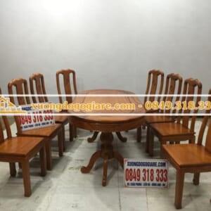 Bàn ghế ăn gỗ gõ đỏ anh Quang ( Vĩnh Phúc)