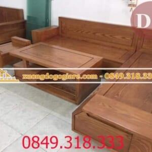 Bàn ghế sofa góc gỗ sồi SF-0013