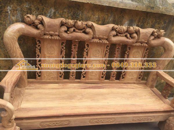 Bộ bàn ghế gỗ hương tay 12 đẹp và sang trọng