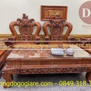Mẫu bàn ghế Nghê Phượng tay 20 anh Ba- Uông Bí – Quảng Ninh