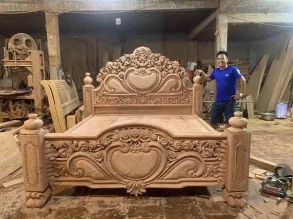 Các mẫu giường gỗ tự nhiên cực kỳ đẹp