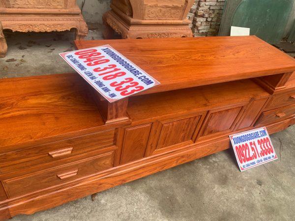Kệ sofa gỗ hương đá hàng dày