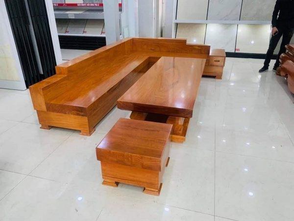 Các mẫu sofa nguyên khối gỗ gõ đỏ, hương đá