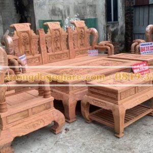 Trả hàng bộ tần thuỷ hoàng tay cột 16 gỗ hương đá cho a Kiên