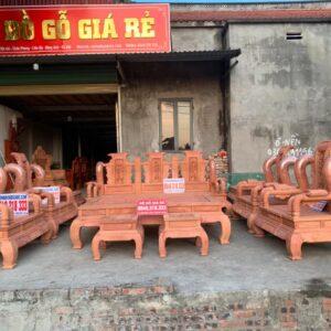 Bàn ghế tần thuỷ hoàng gỗ hương đá tay 14 bộ 10 món siêu khủng, siêu liền