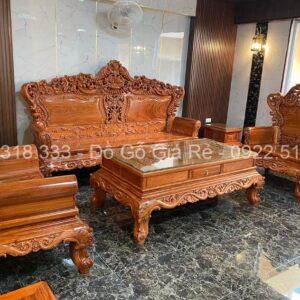 Combo sản phẩm gỗ hương đá Bàn Ghế Hoàng Gia anh long lào Cai