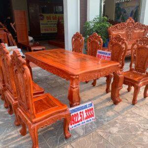 Bàn ăn vip 8 ghế gỗ hương đá